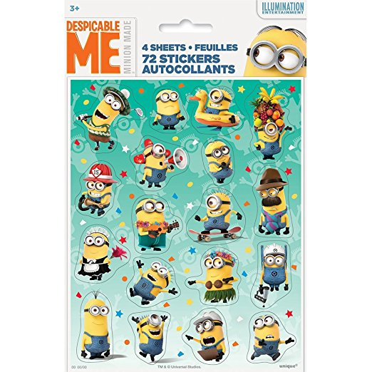 Package of 4 Despicable Me Sticker Book