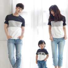 Family Matching Outfits Striped T-Shirts