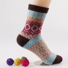 Women's Warm Geometric Patterned Socks