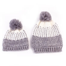 Family Matching Outfits Knitted Winter Hats