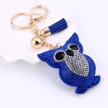 Owl Keychain With Rhinestones